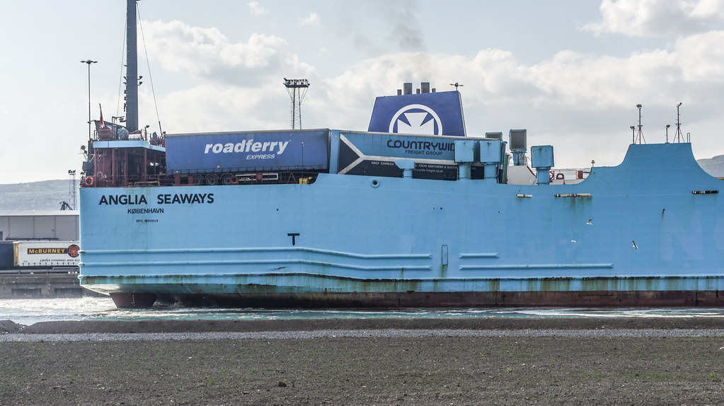 MS Anglia Seaways Docking (Belfast Port) 002