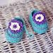 Violet Flower Booties