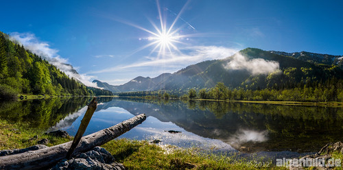 HDR Panorama Lake Mittersee | by alpenbild.de