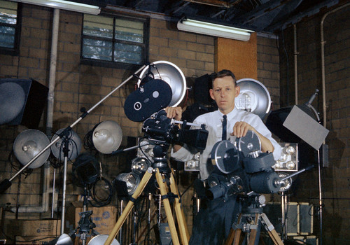 Ed Westcott with film making Equipment Oak Ridge | by doe-oakridge