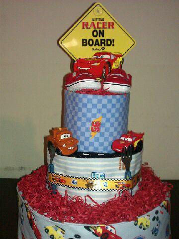 Car Baby Shower Cake