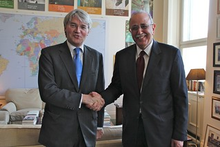 Andrew Mitchell welcomes Libyan Prime Minister to DFID | by DFID - UK Department for International Development