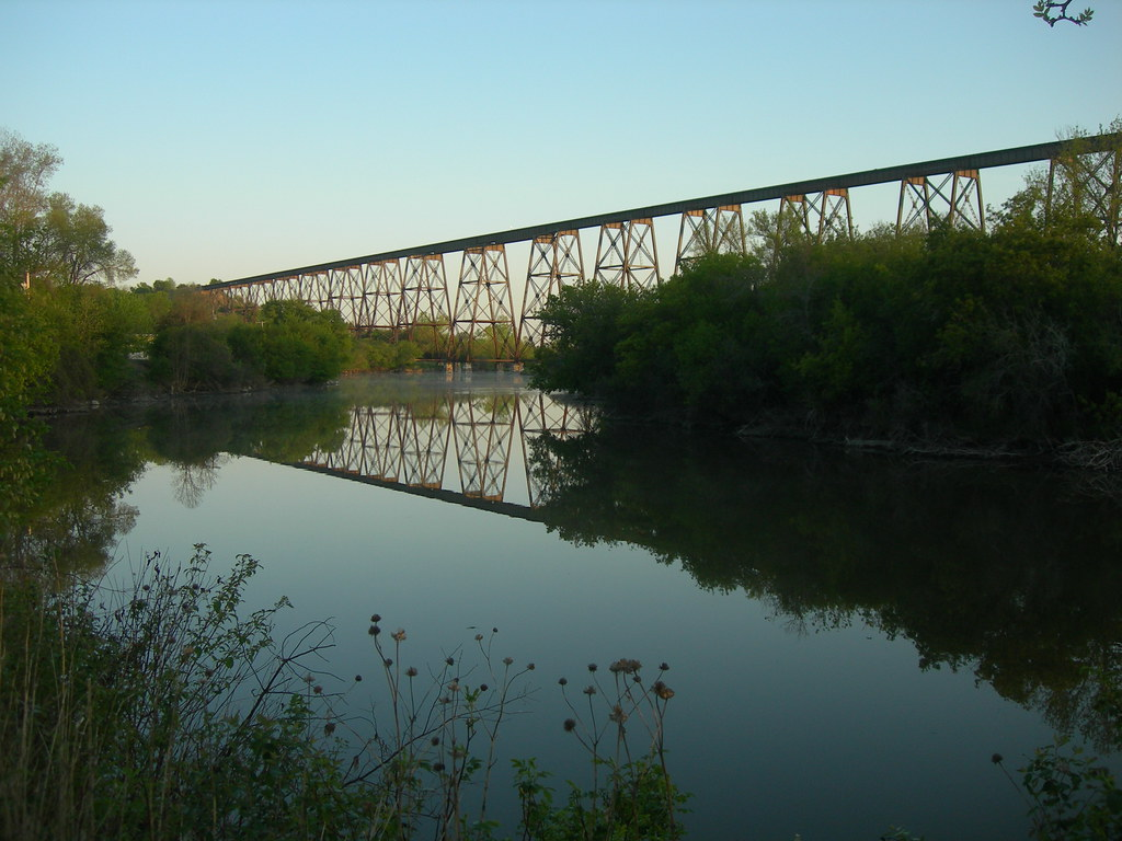 High Line Bridge Over The Sheyenne River Valley City