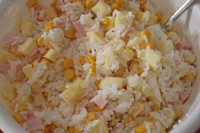 Ensalada de pechuga de pavo, manzana, maíz y yogur www.cocinandoentreolivos.com (9)