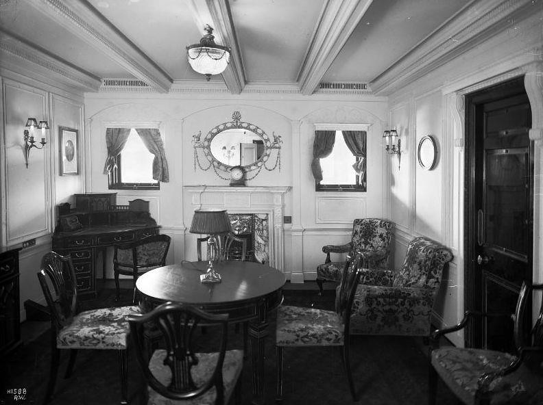 Picture Of 1st Class Adam Style Sitting Room At C Deck Of