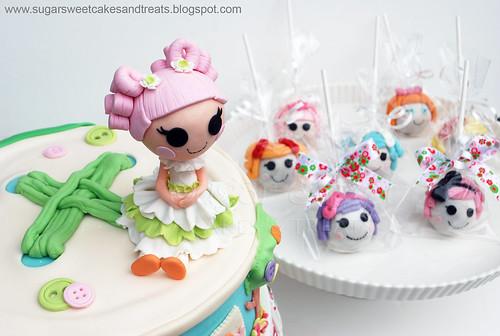 Lalaloopsy Cake and Cake Pops  by SugarSweetCakes (Angela)