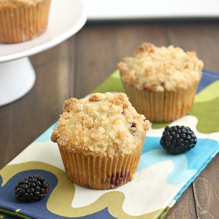 Blackberry Crumb Muffins | by Tracey's Culinary Adventures