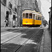 The Famous Yellow Tramcar No. 28 - Lisbon N9691e
