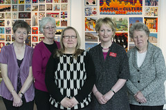 Some of the Liverpool Tapestry embroiderers