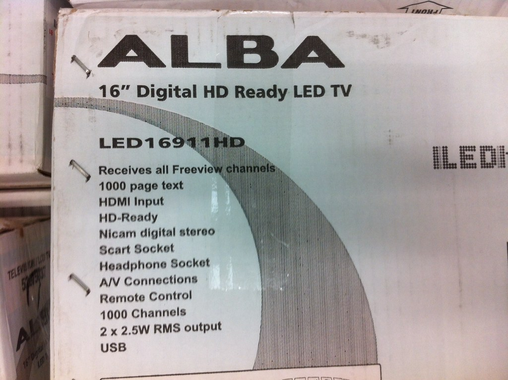 alba 16 inch led tv box detail 1 at argos clearance. Black Bedroom Furniture Sets. Home Design Ideas