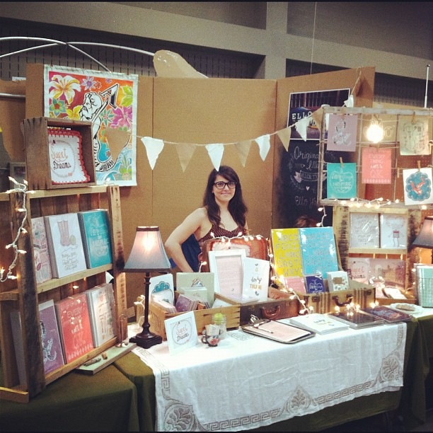 At Renegade Craft Fair Austin Working My Booth Rhianna Wurman Flickr