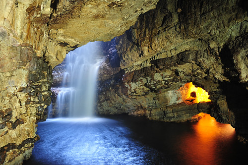 Smoo Cave, Durness, Scotland - Second Chamber, Waterfall and Third Chamber entrance | by Ultrapurple
