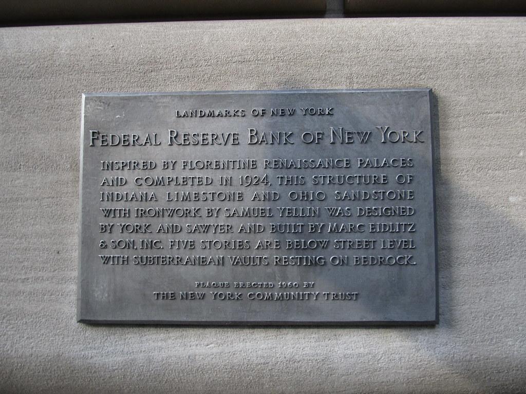 Federal Reserve Bank Of New York Manhattan New York Flickr