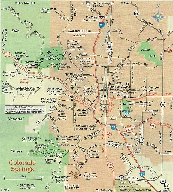 Map Of Colorado Springs 2012 Flickr Photo Sharing