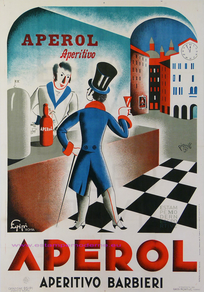 PIQUILLO 1931 APEROL APRITIVO  BARBIERI 97X139 GROSS-MONTI