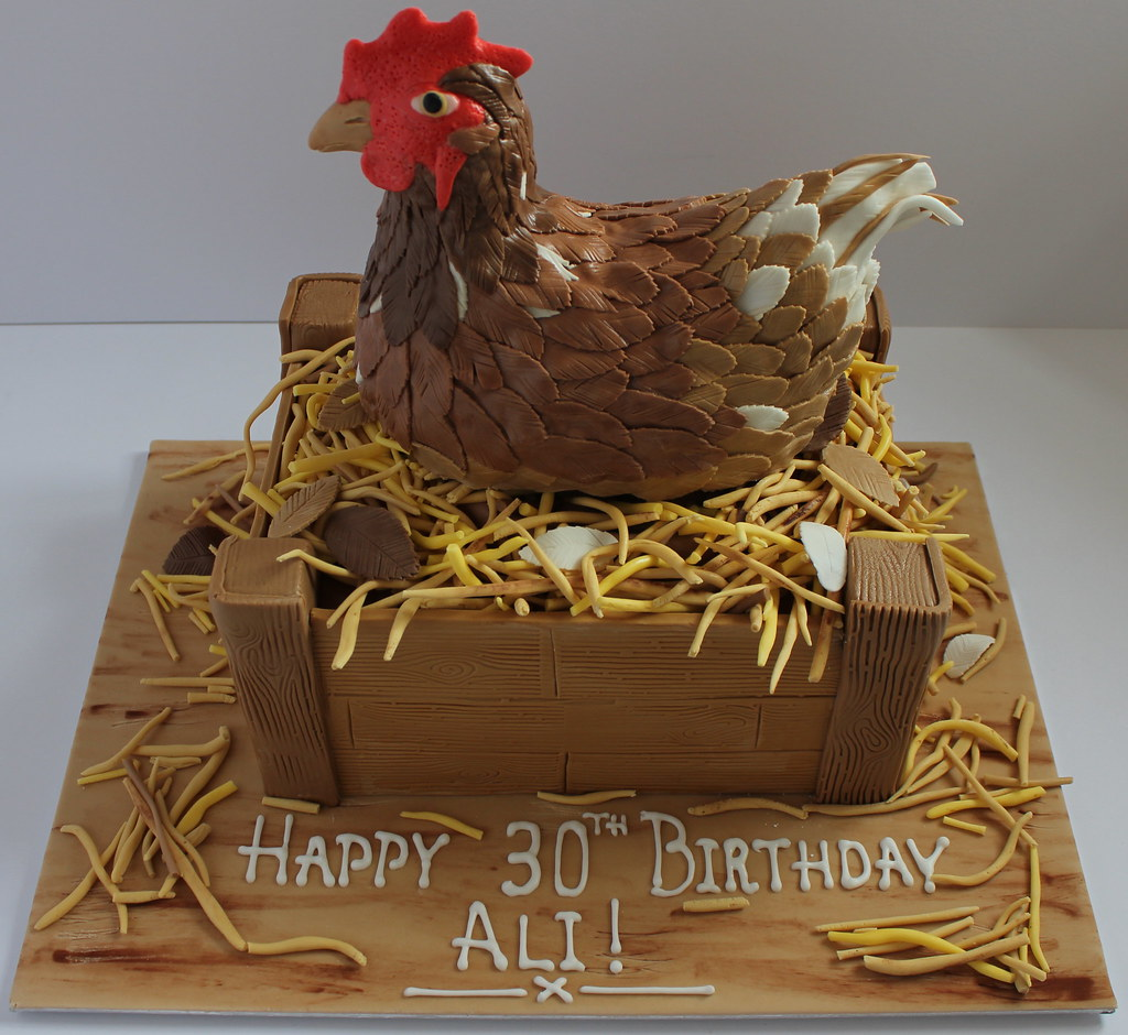 Rooster Birthday Cake