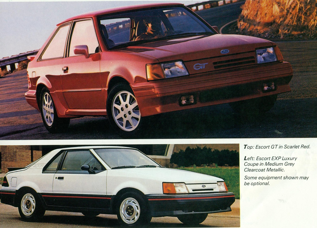 1988 ford escort gt and exp coconv flickr. Black Bedroom Furniture Sets. Home Design Ideas