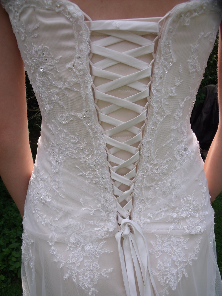 corset lace up back wedding dress flower girl dresses