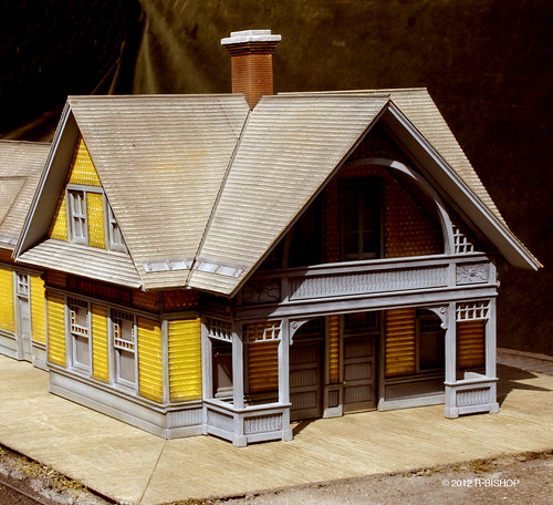 Modelcrafters built a replica of the Park City Depot built by the Union Pacific Railroad in 1886 during the silver rush era in Utah. | by modelcrafters@yahoo.com