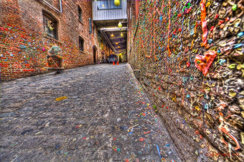 Gum Wall in Post Alley, Seattle Washington below Pikes Fis… | Flickr