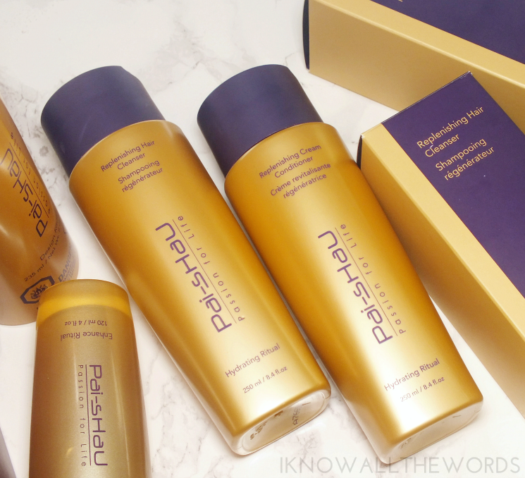 pai shau replenishing hair cleanser and cream conditioner