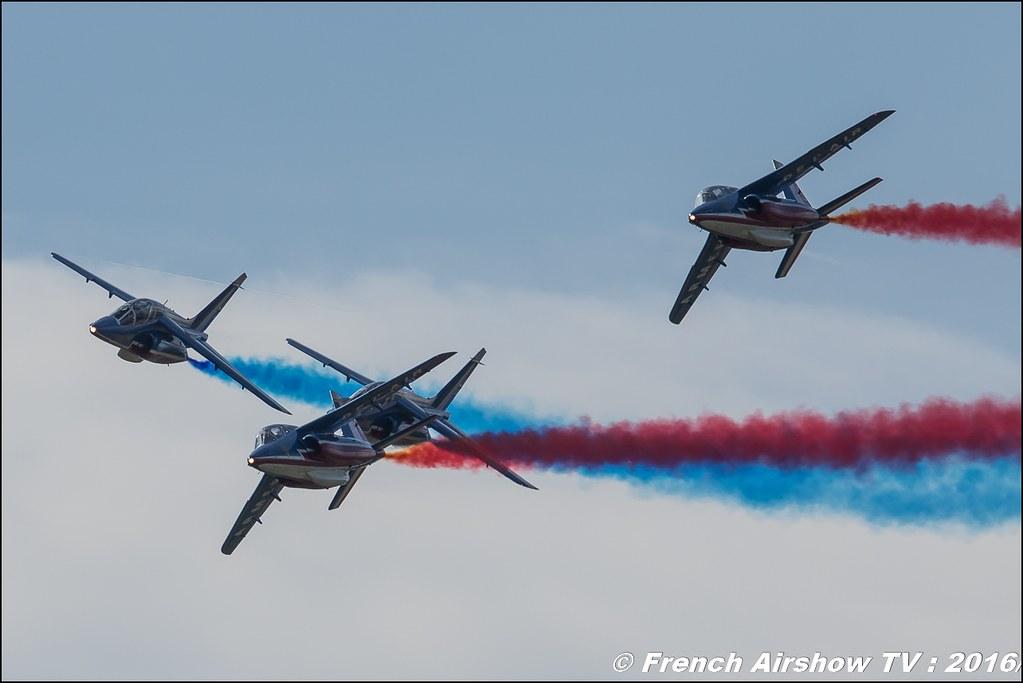 Patrouille de France , Alphajet , Meeting de l'air BA-702 Avord , Meeting Aerien Avord 2016 , FOSA , Armée de l'air , Canon Reflex , EOS System