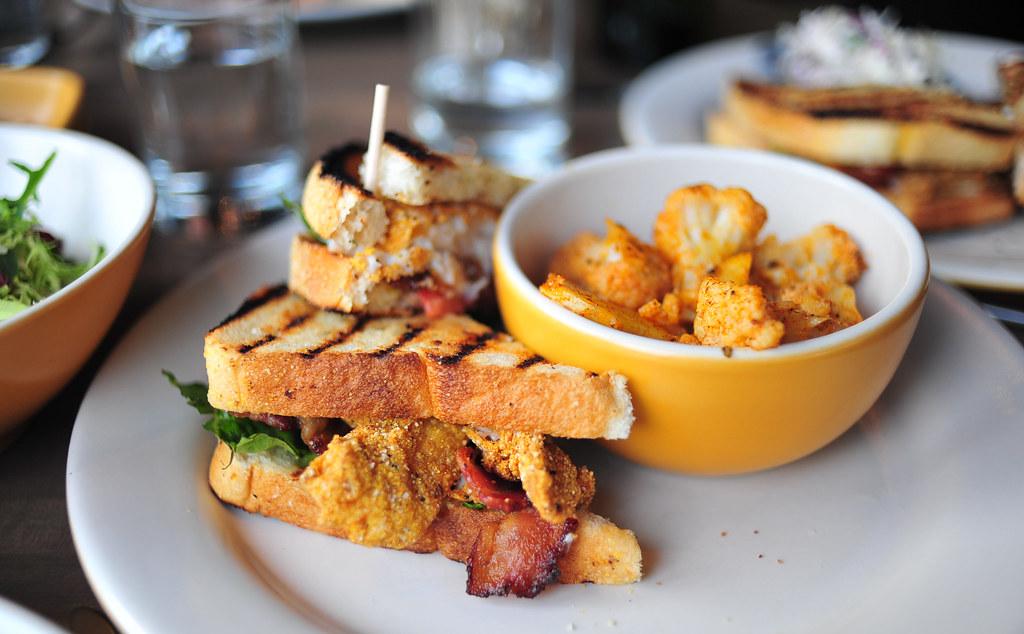 Catfish BLT Club | Catfish BLT Club Corn-fried catfish, hous ...