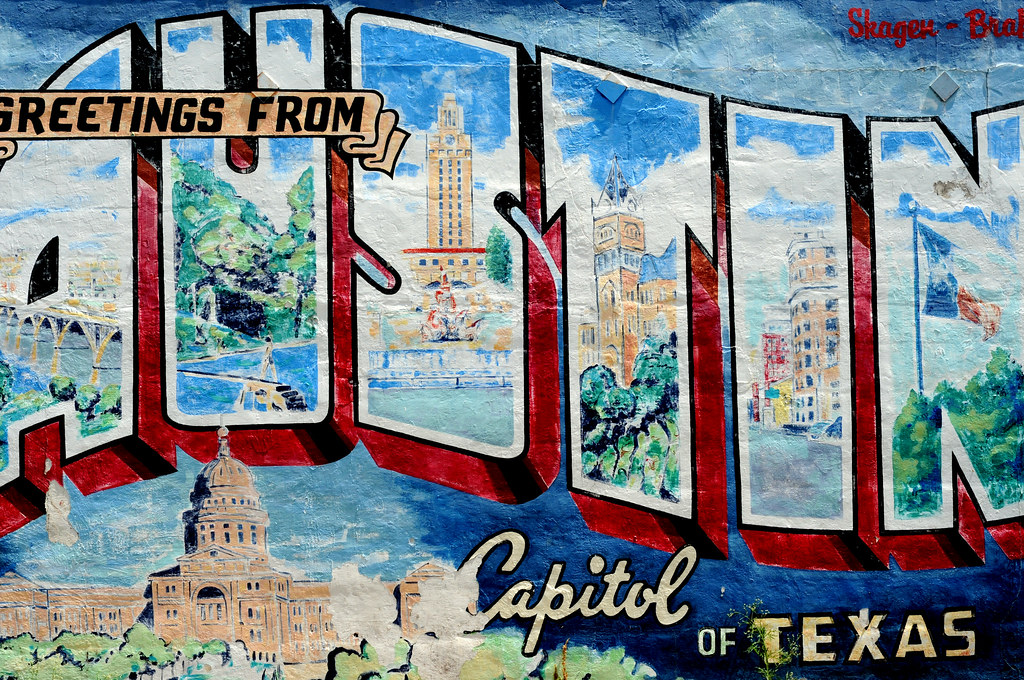 Austin texas postcard south mural dsc 5595 soco austin for Austin postcard mural