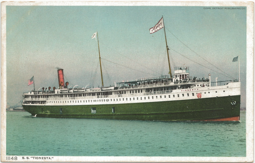 SS TIONESTA Great Lakes Steamer Excursion US Mail Ferry Bu ...