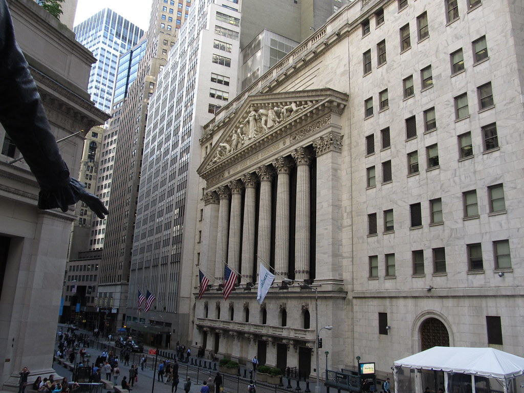 The Main Entrance To The New York Stock Exchange 18 Broad