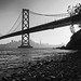 Bay Bridge in B&W