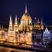Night View of Hungarian Parliament Building
