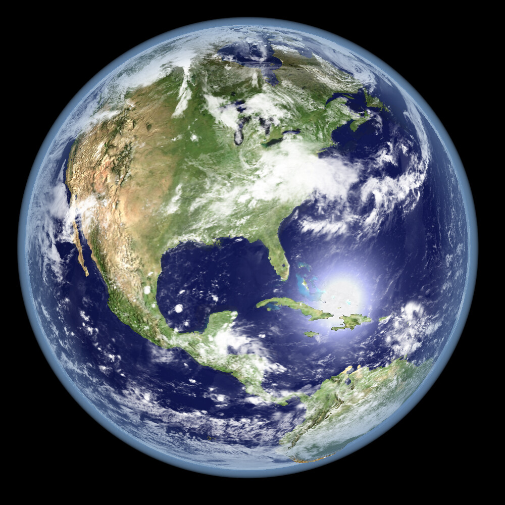 Earth Global Elevation Model With Satellite Imagery Ver