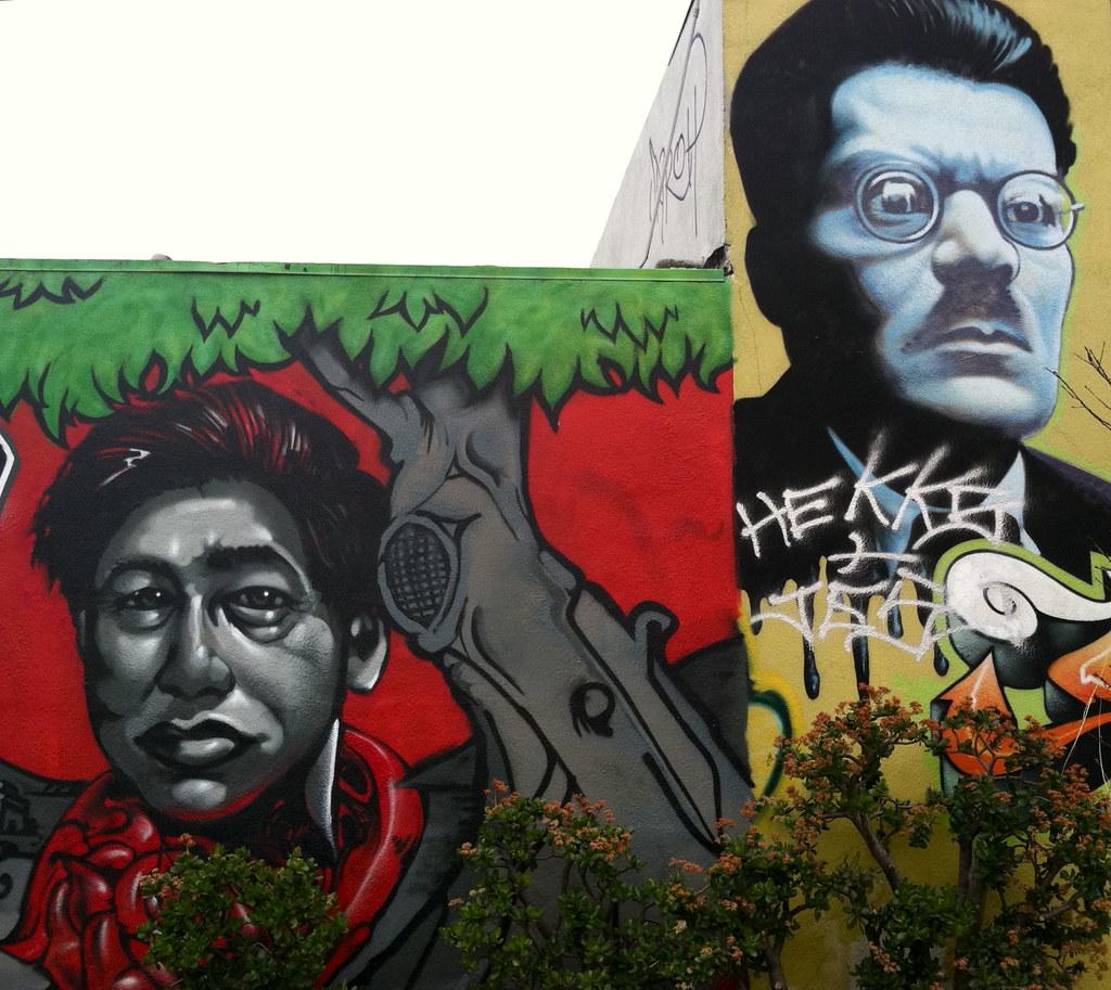 Cesar chavez mural off glendale blvd victoriabernal for Cesar chavez mural