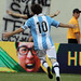Even the advertising boards cheer when Messi scores
