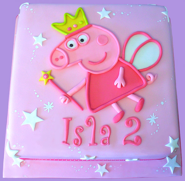 Princess peppa pig princess peppa cake for isla who for Peppa pig cake template free