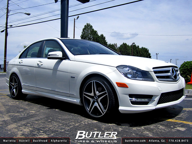 Mercedes c250 with 18in euro mb8 wheels additional for Mercedes benz tires c250