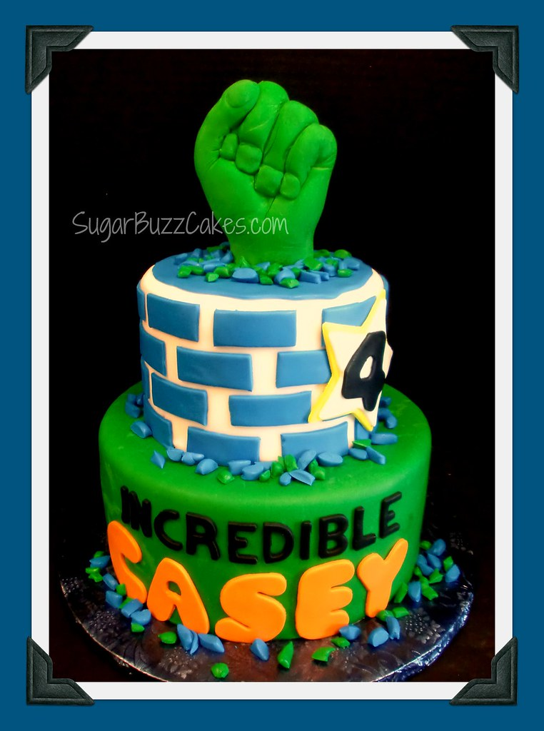 Incredible Hulk Birthday Cake Carol Flickr