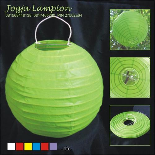 jogja lampion_lampion bulat hijau
