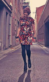 Kazzthespazz.com | Tribal Print Dress with hood | by Kazz the Spazz