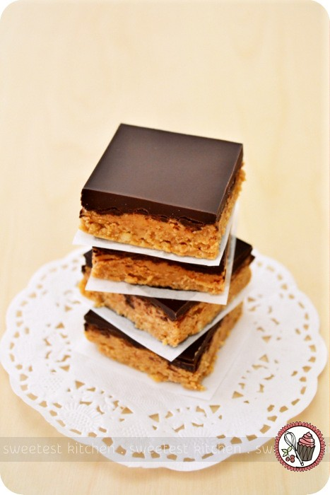 No-Bake Chocolate Biscoff Bars | I couldn't help but dig ...