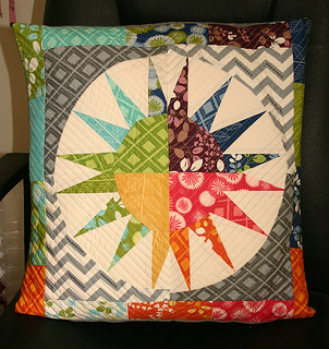 Fab pillow from John/Quilt Dad for the NY Beauty swap | by Don't Call Me Betsy