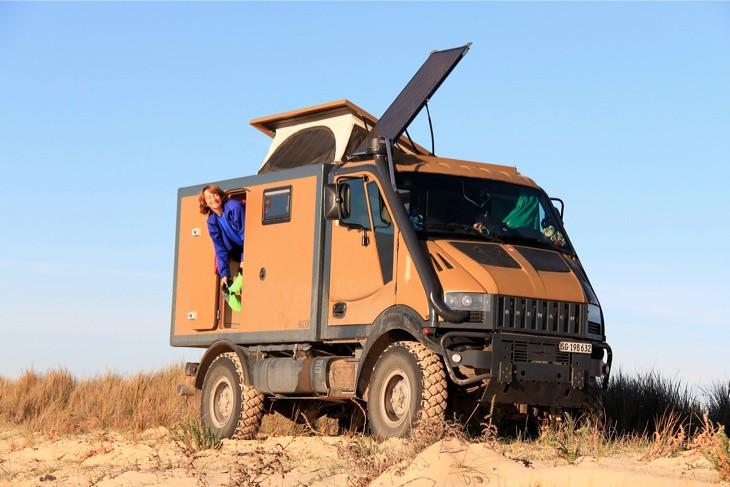 Mobile Survival Vehicle : Bremach t rex for desert expedition flickr