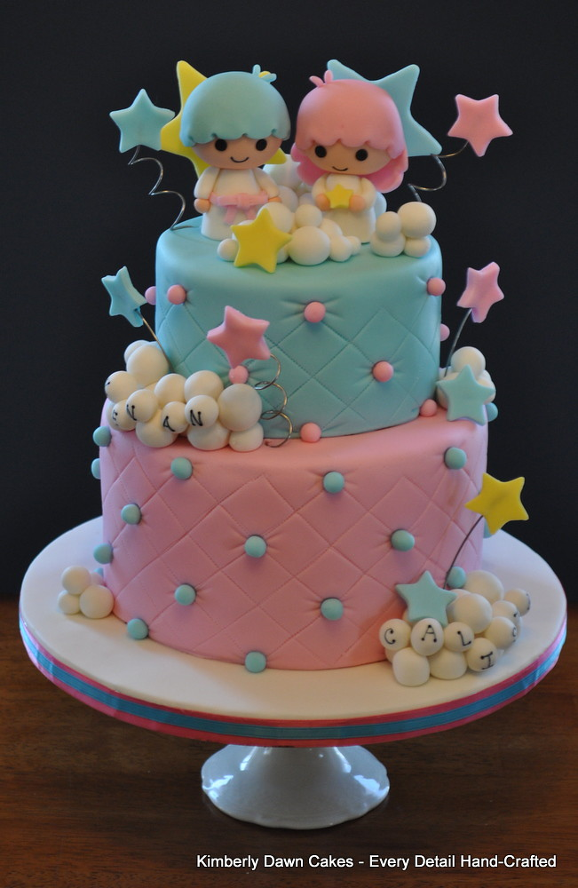 Little Twin Stars Cake Kimberly Dawn Cakes Flickr