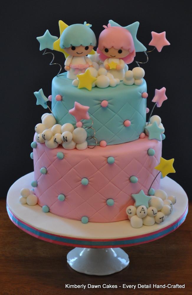 Торты для двойняшек мальчик и девочка