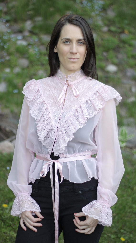 Lace Ruffle Blouse Lace Ruffled Blouse Full