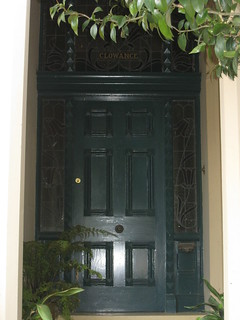 "The Front Door of ""Clowance"", a Late Victorian Villa - Ballarat"