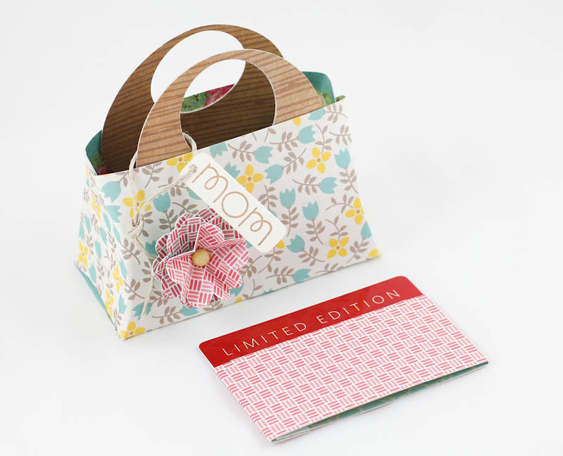 Mothers day gift tote bag template sentiment from