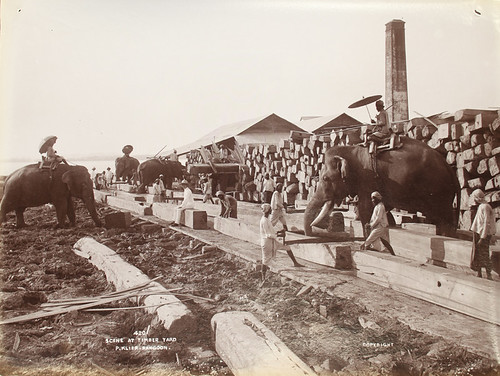 Scene at timber yard | by The National Archives UK