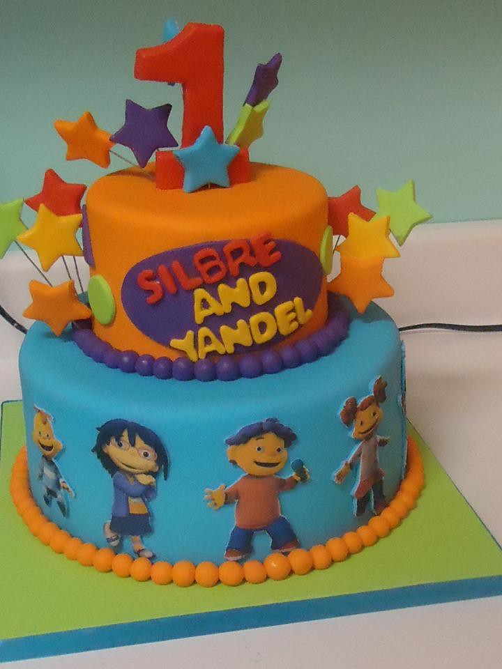Sid The Science Kids Birthday Cake For Twins Frosted